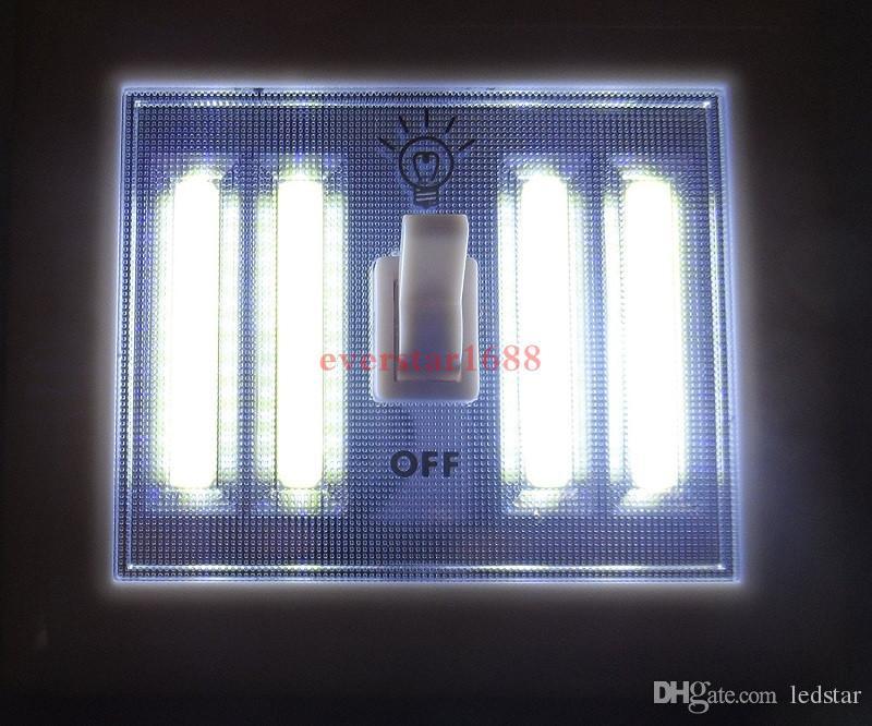Luz nocturna portátil LED con pilas 4 paneles LED COB Interruptor inalámbrico Luz Tap Tap Light Mount en el dormitorio / Closets / Cabinet / Shelf