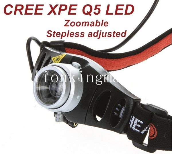 CREE High power LED 500 lumens Cree Q5 LED floodlight lamps are scaling the flashlights Zoomable headlamp