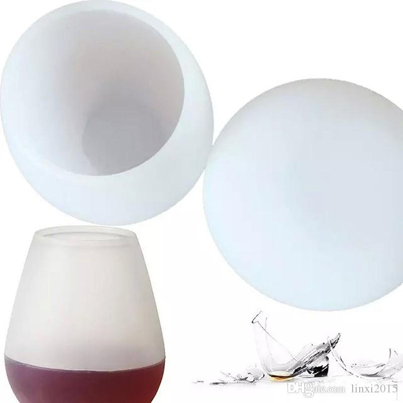 Silikon Şarap Kadehi 11oz / 350ml - Kırılmaz Parti / Kamp / Piknik / RV / Yatçılık / Seyahat Şarap Bardakları Kupası dhl nakliye