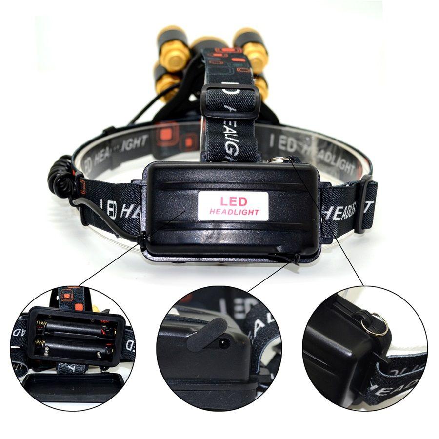 T6 + XPE LED Scheinwerfer 16000lm Zoomable 5 leds Scheinwerfer Fackel Taschenlampe Auto Ladegerät Batterien für Außenbeleuchtung
