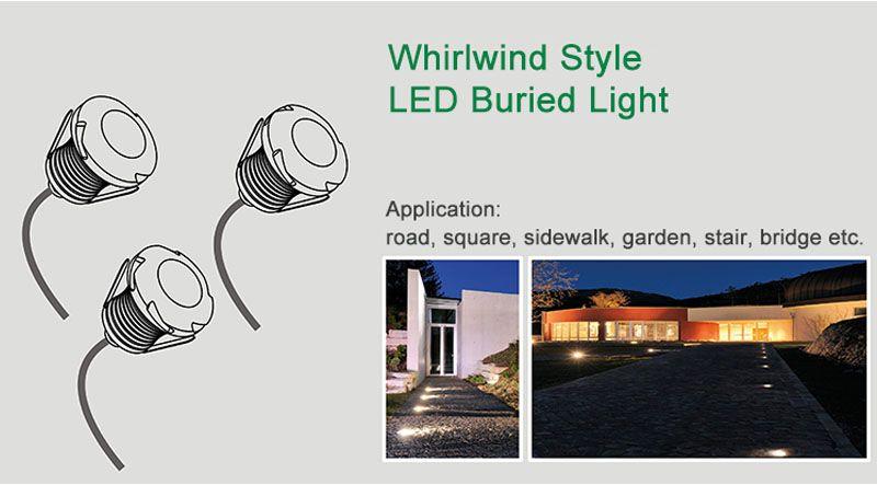 Mini LED Buried Light 3W DC12V Spotlight Wall light Garden Light Lawn Lights Energy saving lamp Warm white Nature white Cold white