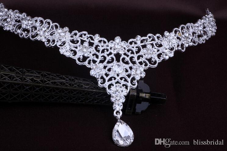 Bon marché accessoires de cheveux de mariée de mariage mode de mariage pour femmes en métal perlé de perles chaîne tête bijoux bijoux femme indien femmes ornements de mariée couronne