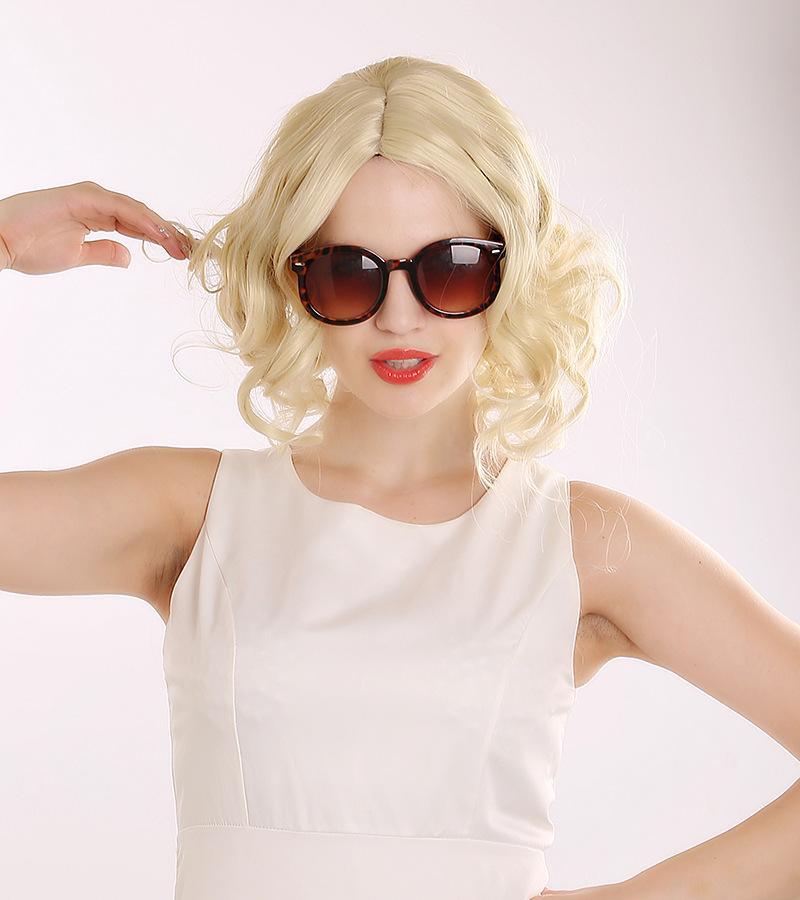 2017 Hot Sexy Short Big Wavy Hair Wigs For Women Light ...