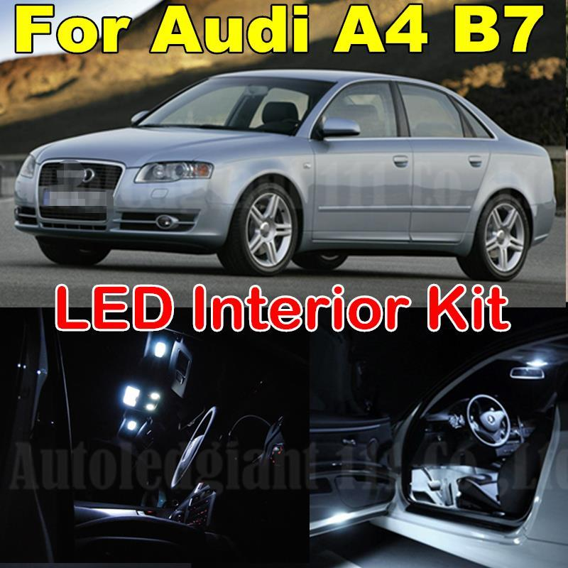 2018 White Canbus Error Free Interior Lighting Package For Audi A4 S4 Rs4  B7 Led Interior Light Kit 2005 2006 2007 2008 2009 From Autocity, $27.14 |  Dhgate.