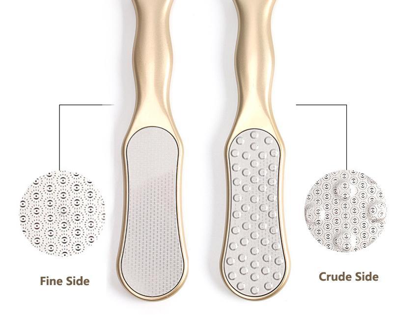 Lüks Paslanmaz Çelik Ayak Manikür Tırnak Araçları Yüksek Kalite Temizleyici Ayalar için Pedikür törpü rende için / Altın Ayak Dosyası