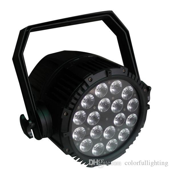 Freie Verschiffen Qualität zwei Jahre Garantie 18x18W 6in1 RGBAW + UV imprägniern LED Gleichheit IP65 im Freien mit Straßenkasten