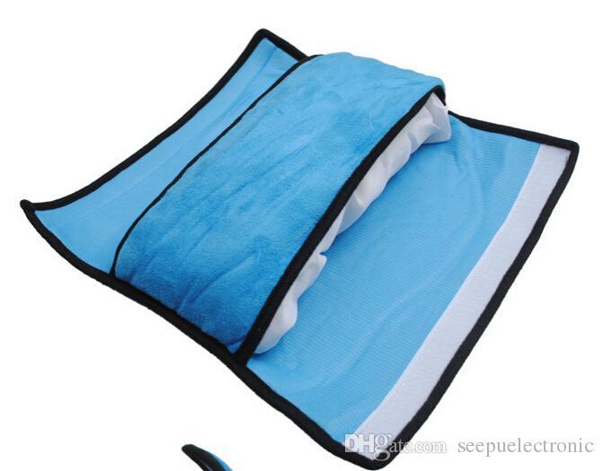 아기 자동차 안전 좌석 벨트 하네스 어깨 패드 커버 쿠션 지원 베개 핑크 블루