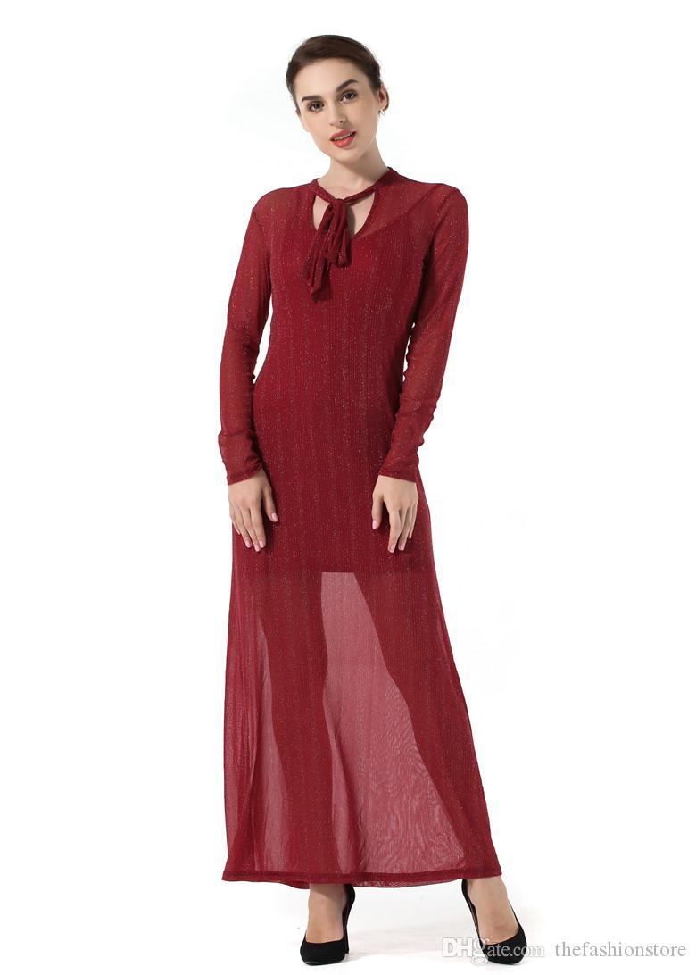 2018 2018 New Design Women Long Sleeved Party Dress Women Plus Size ...