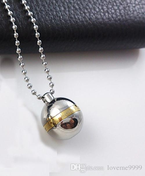 High quality Love forever 316L Stainless Steel Cremation Memorial Ash Urns Ball Shape Lockets Pendants Necklaces Urns Jewelry N1