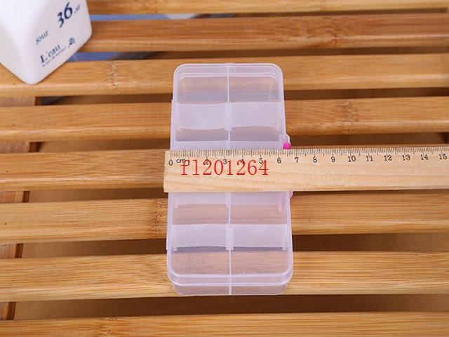 Fedex DHL geben Verschiffen justierbaren 10 Fach-freien Plastikspeicher-Kasten für Schmucksache-Ohrring-Werkzeug-Behälter, / frei