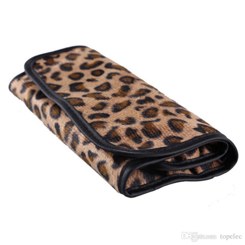 Mulher Profissional Escova Cosméticos Make Up Tool Set Com Leopardo Caso Saco Kit Moda Estoque Pronto