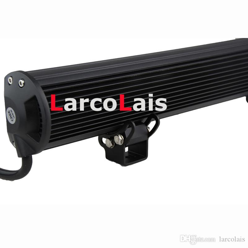 20inch 126W 크리 어 LED 라이트 바 지프 트럭 트레일러 4x4 4WD SUV ATV 오프로드 자동차 12V 작업 작업 램프 연필 확산 빔