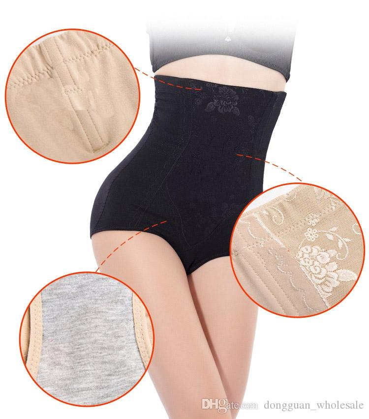 M-5XL Pluse Size High Waist Women Slimming Control Panties Body Shaper Butt Lift With Tummy Control Underwear Shapewear Brief 2018