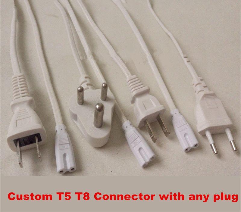 T8 T5-Stecker Doppelanschluss 2ft 3ft 4ft 5ft 6ft Netzkabel mit Schalter US EU AU Stecker für integrierte LED-Röhrenleuchten