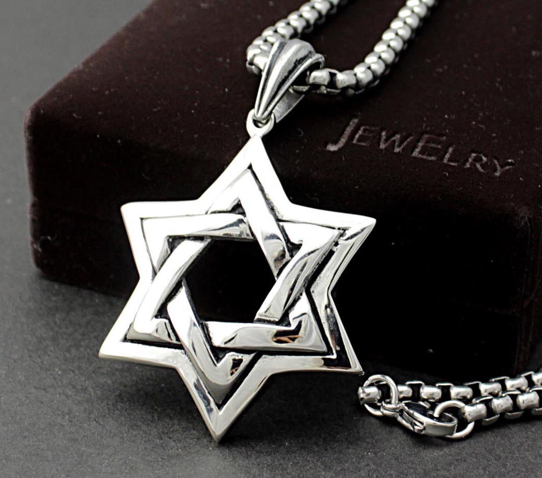 Wholesale huge big jewish star of david mens pendant for Star of david jewelry wholesale