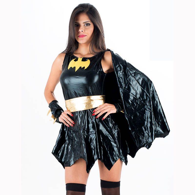 New Arrival Hot Halloween Super Hero Uniform Fetish Black Dc Comics Batgirl Fancy -1857