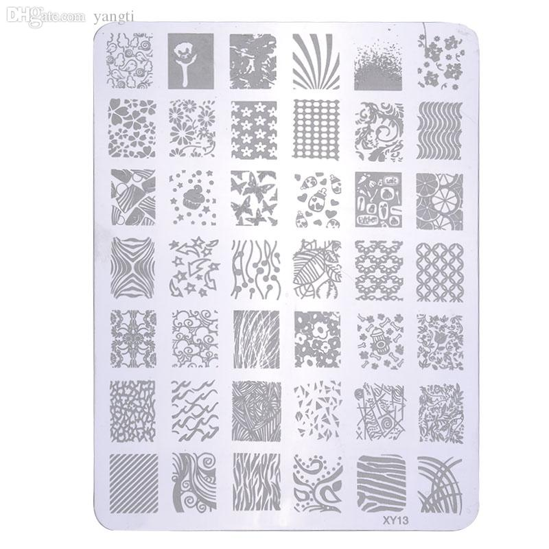 Wholesale fashion nail art tool accessories popular nail stamp wholesale fashion nail art tool accessories popular nail stamp stainless steel square shape konad nail stamping plates zxhj1118ws8 stencil nail art how to prinsesfo Images
