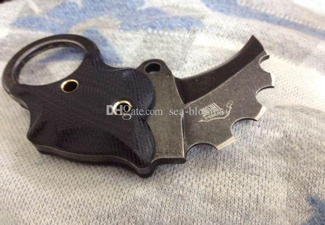 201410 DIE ONE Mini Claw Karambit AUS-8 Klappmesser EDC Messer Anti-Rutsch G10 Griff mit Kydex Survival taktische Messer Weihnachtsgeschenk 412 X