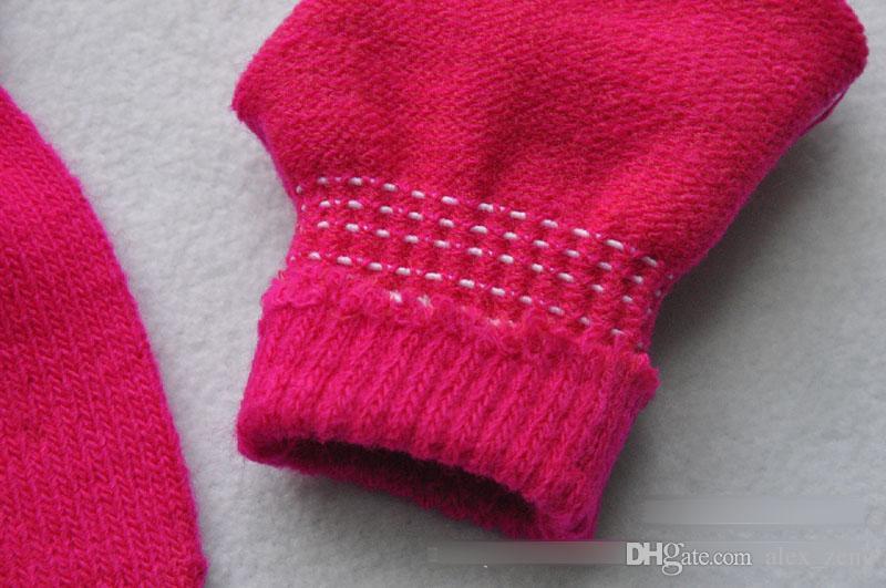 Enfants Gants À Tricoter Chaud Gants Doux Garçons Filles Mitaines Enfants Gants D'hiver Pour Enfants Laine De Luvas Enfants Accessoires 7 Couleurs