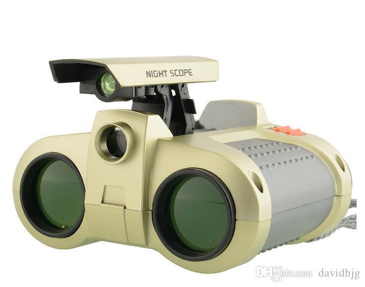 4x30 vert LED vision nocturne télescope enfant télescope enfants cadeaux usine directe en plein air sûr jouets