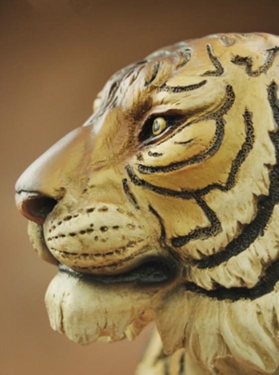 Chinese Tiger Head Bust Statue Resin Animal Feng Shui Art And Craft ...