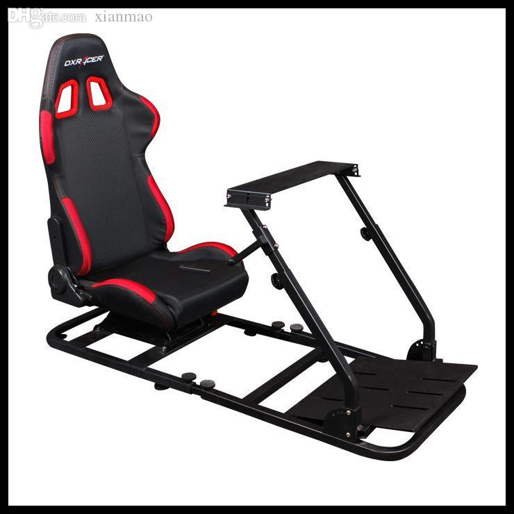 Atacado-Dxracer PS / COMBO / 200 DIY Simulator Racing para PS3 / G27  Corrida de cadeira de jogo jogo de computador suporte volante definir Frete