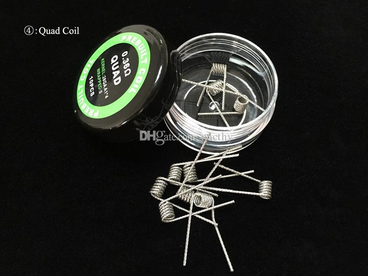 9 Farklı Premade Wrap Alien Sigortalı Clapton Direnç Bobinleri Düz Mix Twisted Hive Quad Kaplan Isıtma Tel E Sigaralar için DHL Ücretsiz