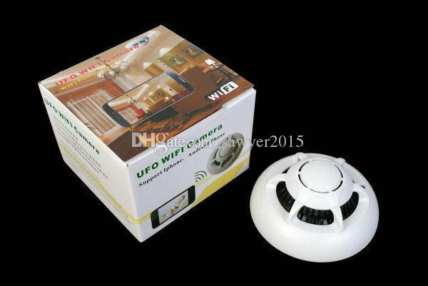 Беспроводной НЛО WiFi детектор дыма IP-камера HD мини детектор дыма камеры DVR для смартфонов PC интернет live Video Monitoring