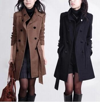 hot sales women's trench coat with good quality plus size 4xxxl