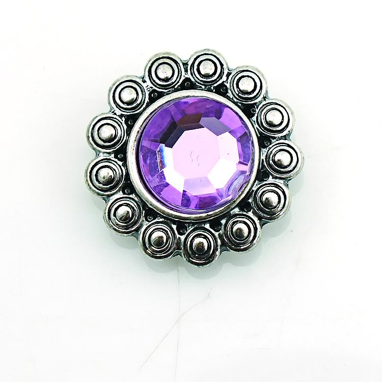 JINGLANG 18mm Snap Buttons Fashion Plastics Crystal Metal Ginger Clasps DIY Noosa Jewelry Accessories