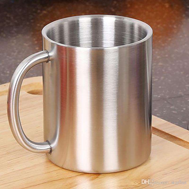 Le più nuove tazze di caffè dell'acciaio inossidabile tazze placcate di rame Cocktail Bar Bevanda di birra Bicchiere di acqua Bicchiere di vino i WX9-118
