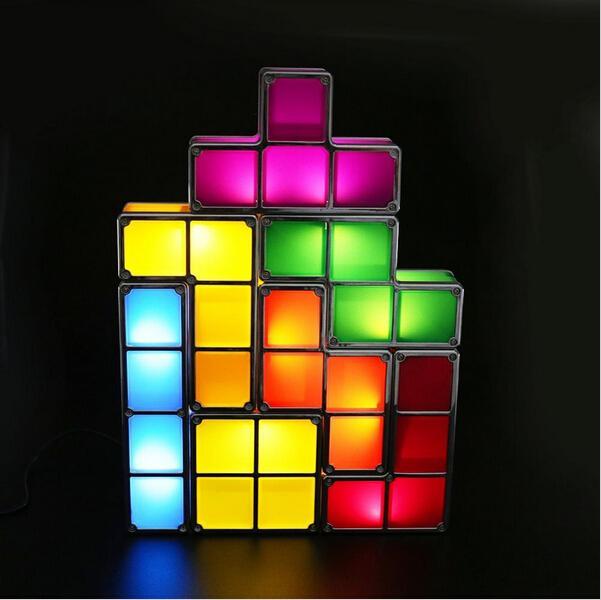 LED Stackable Desk Lamp Plastic Night Light Modern Creative Style Bedroom Living Room Christmas Gift