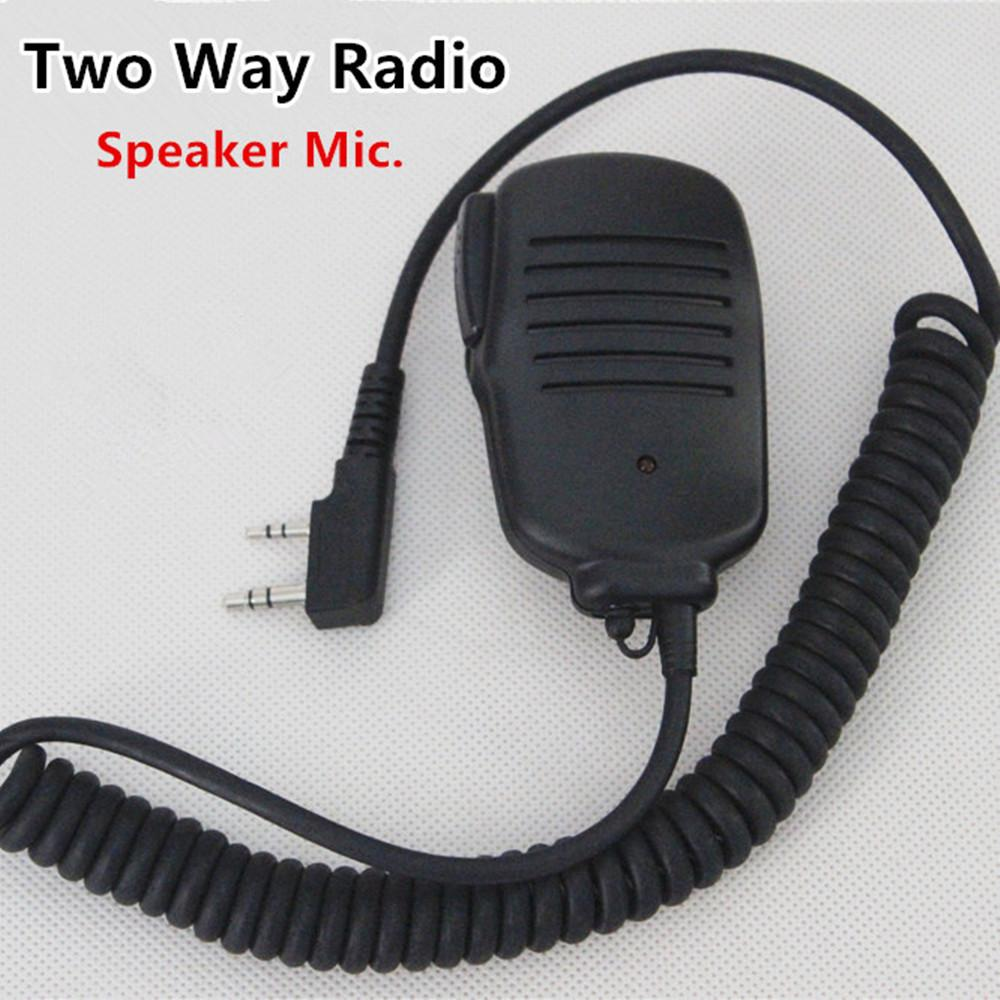 2 Pin Handheld Speaker Microphone Mic With Ptt Button U0026red