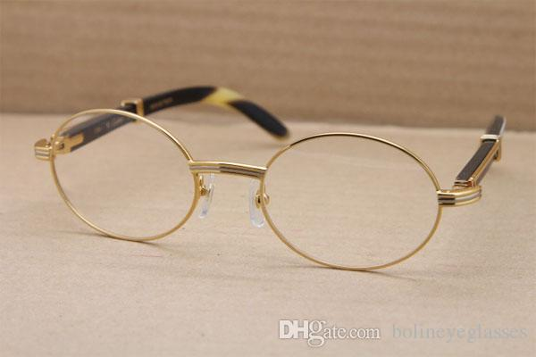 bfef4eb9b0 Manufacturers Wholesale Round 7550178 Metal Eyeglasses Luxury Black ...