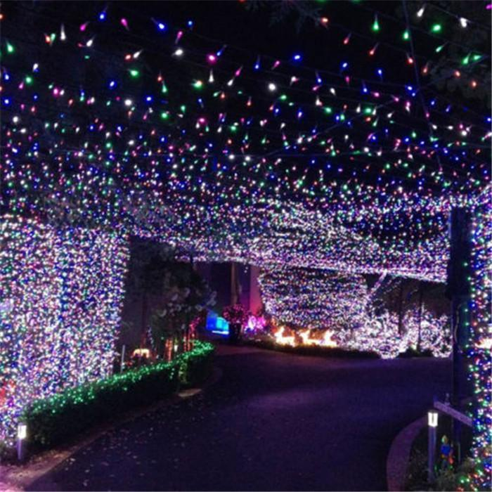 cheap us stock10m 72 led string outdoor christmas light square timed battery with control button for christmas weddings party string lights for bedroom - Solar Powered Outdoor Christmas Lights