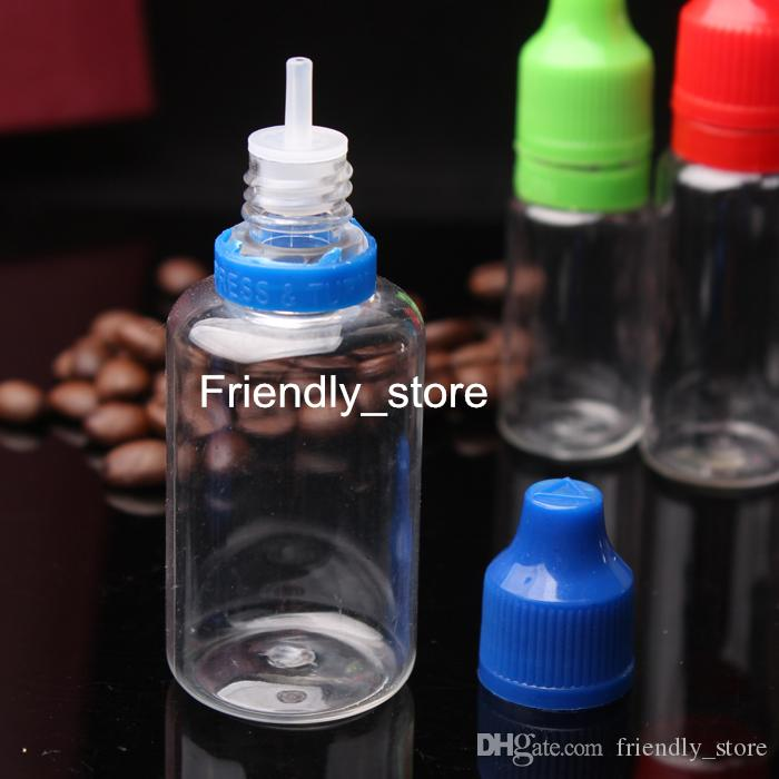 2017 Hot Selling 30ml Dropper Empty Bottles Plastic PET Bottles With Childproof Tamper Evident Cap And long thin dropper tips