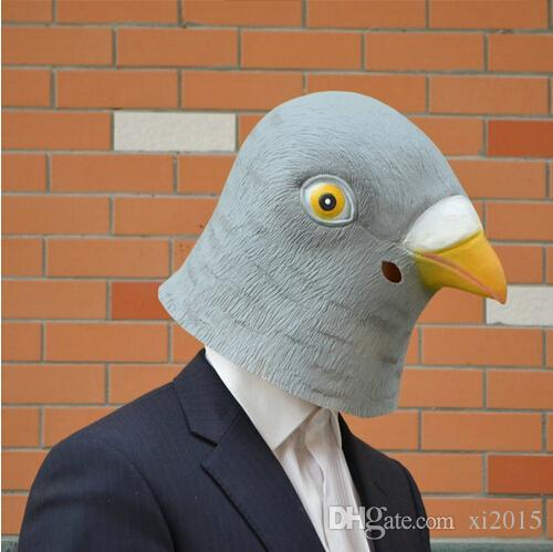 DHL Pigeon dove Mask Creepy Halloween Animal Costume Theater Prop Novelty Latex Rubber Party Mask