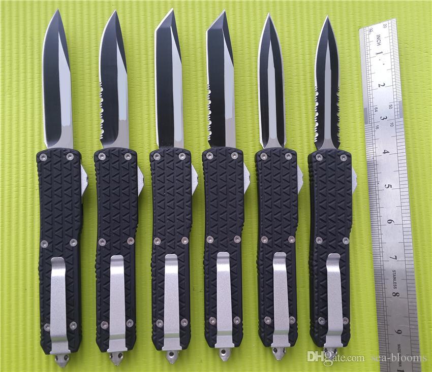 Große Größe Combat D07 D / A Auto Messer 9,65 Zoll Katana Tri-Grip Taschenmesser EDC Taktisches Messer mit Scheide A07 C07 616