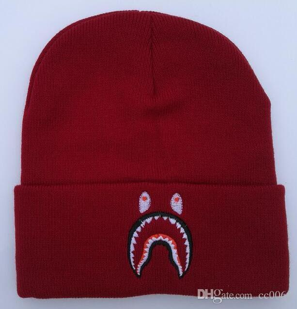 Wholesale New Winter Fashion Men Beanie Women Hat Casual Shark ... a5c0de1a7b5b