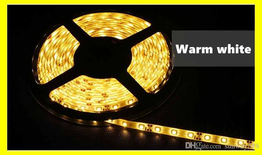 LED Strips 5m3528 SMD 60led LED Strip Light Waterproof Flexiable LED Strips 300LED Cool/Pure/Warm White Red Blue