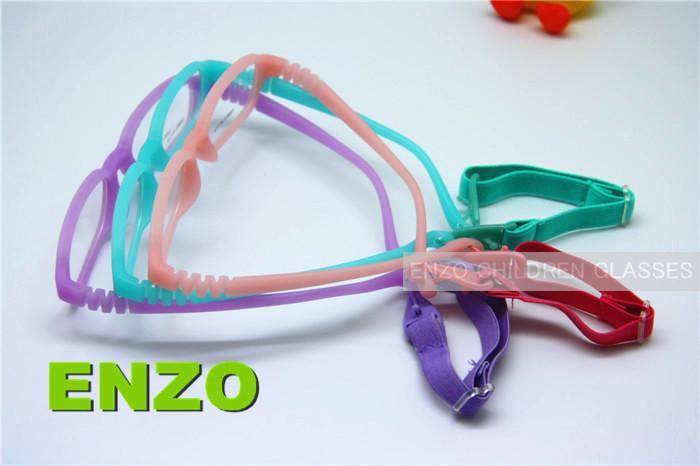Screwless Miraflex Style Kids Eyeglasses Elastic Cord