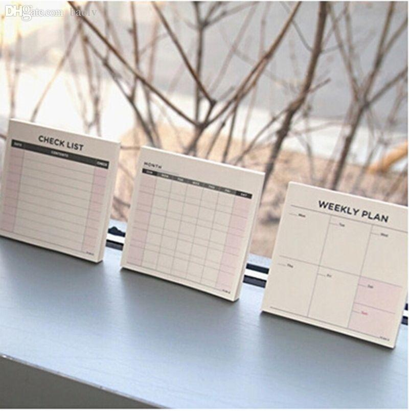 2018 Wholesale Desk Memo Pad Monthly Weekly Planner Schedule To Do List Check Note From Baolv 2252