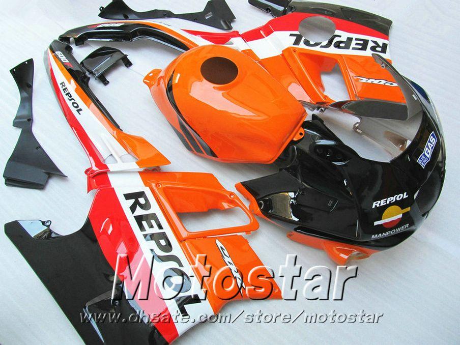 7 Gifts Kit de carenado para HONDA CBR 600 F2 1991 1992 1993 1994 Naranja Negro Repsol Cuerpo Feriaturas CBR600 91-94 Carrocería