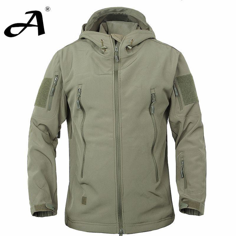 Army Camouflage Coat Military Jacket Waterproof Windbreaker ...