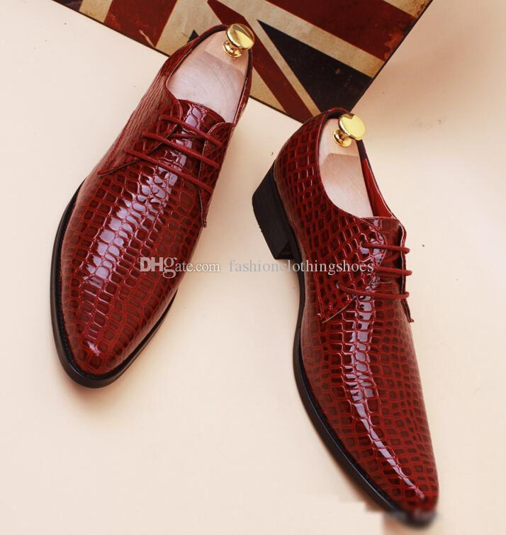 2016 New Dress Shoes Mens Casual Shoes Wedding Dress Shoes Leather