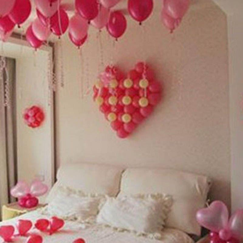 Plastic Baloons Holes Heart Shape Balloon Wall Modeling