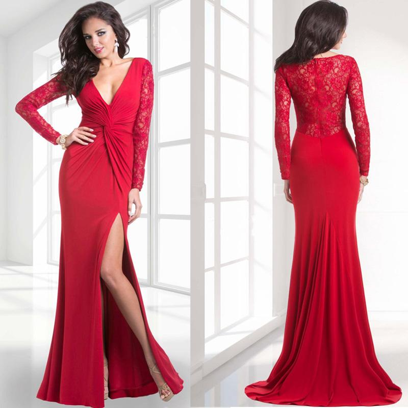fitted red evening gowns - photo #8