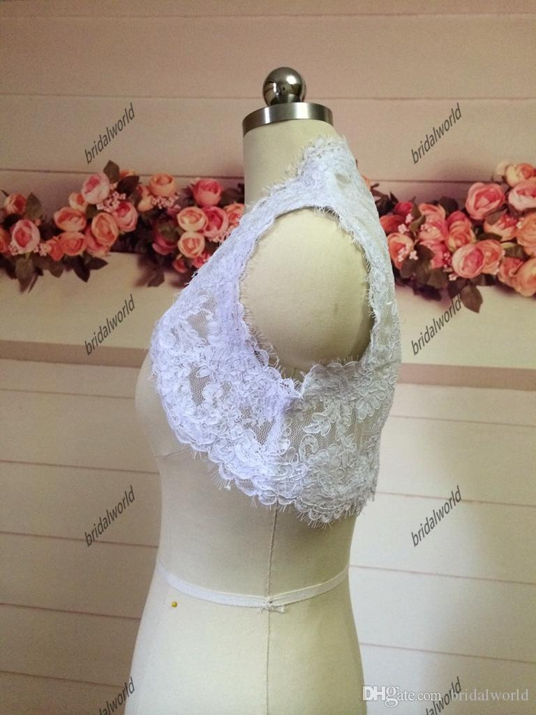 Mariage Dentelle Nuptiale Boleros Sans Manches 2015 Printemps Boléros Vestes De Mariée Robes De Mariage Boléros Vestes De Mariage Cap Dames Vestes