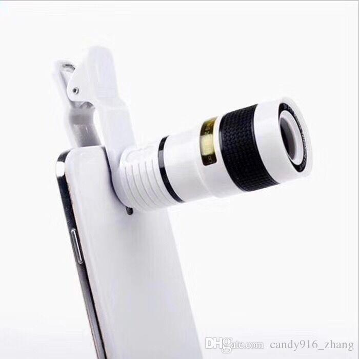 buy online dea8a bad2a 2017 New Universal Clip 8X Zoom Mobile Phone Telescope Lens Telephoto  External Smartphone Camera Lens for iPhone Sumsung Huawei