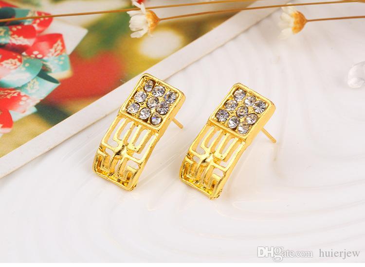 Nedime Takı Seti Vintage Kolye Bilezik Küpe Yüzük Gibi Hint Afrika Dubai 18 k Altın Takı Setleri Düğün Takı Setleri